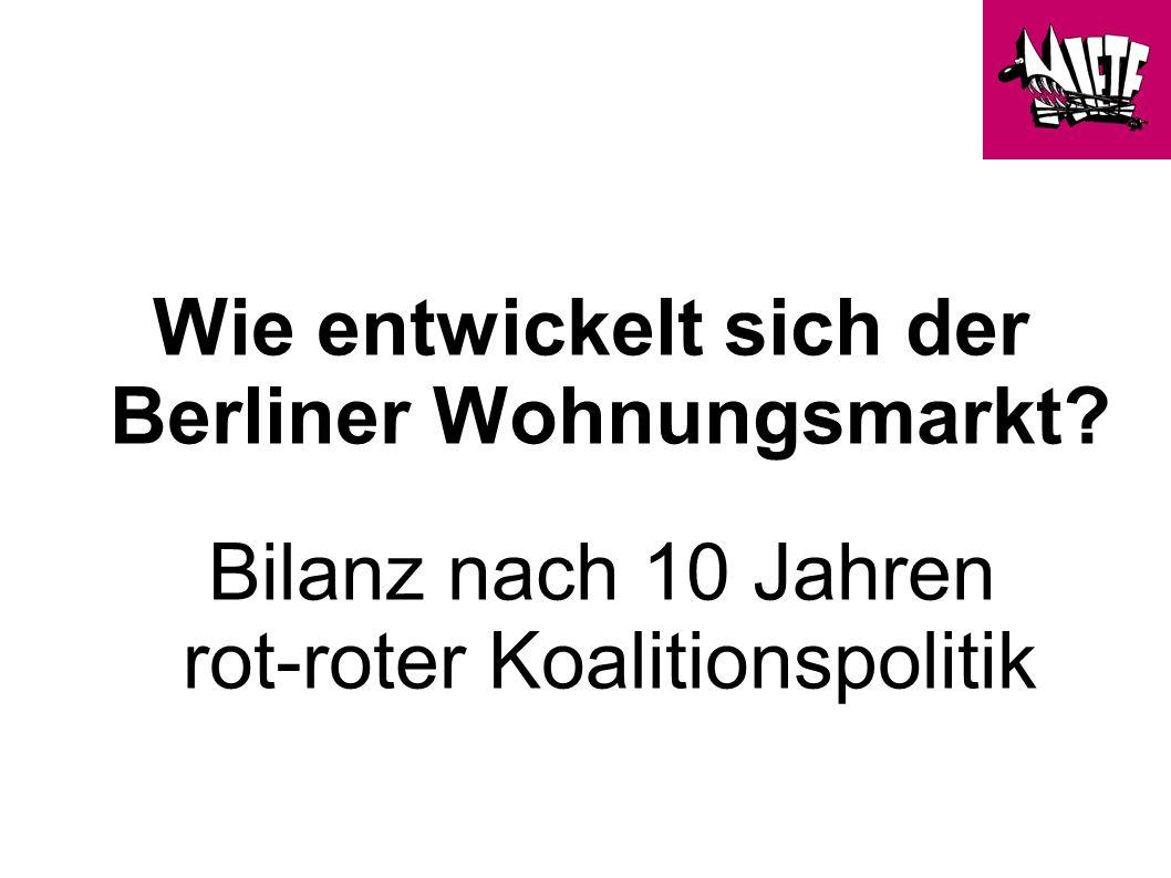 Wie entwickelt sich der Berliner Wohnungsmarkt Bilanz nach 10 Jahren rot-roter Koalitionspolitik