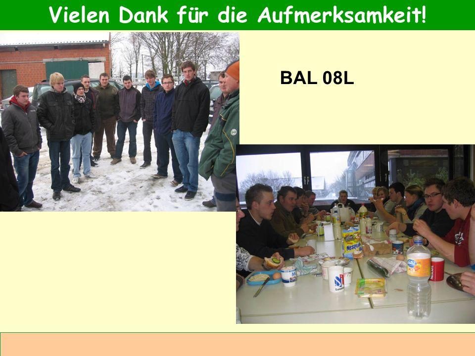 Abteilung Agrarwirtschaft BAL 08L Vielen Dank für die Aufmerksamkeit! BAL 08L