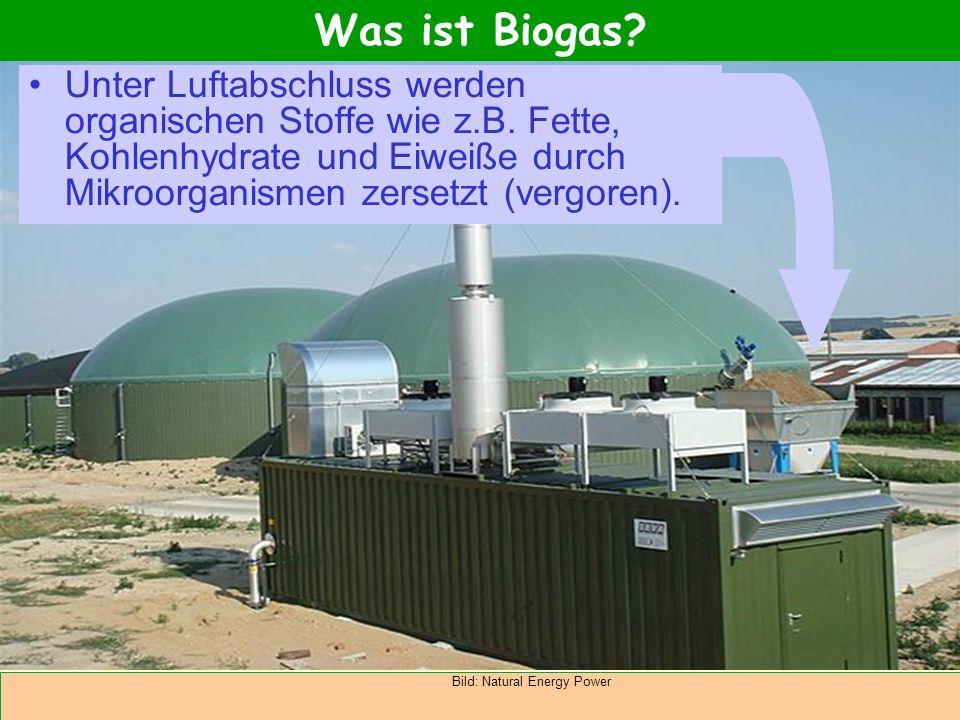 Abteilung Agrarwirtschaft BAL 08L Unter Luftabschluss werden organischen Stoffe wie z.B. Fette, Kohlenhydrate und Eiweiße durch Mikroorganismen zerset