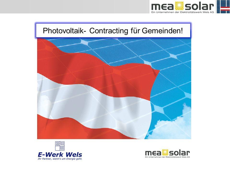 Photovoltaik- Contracting für Gemeinden!