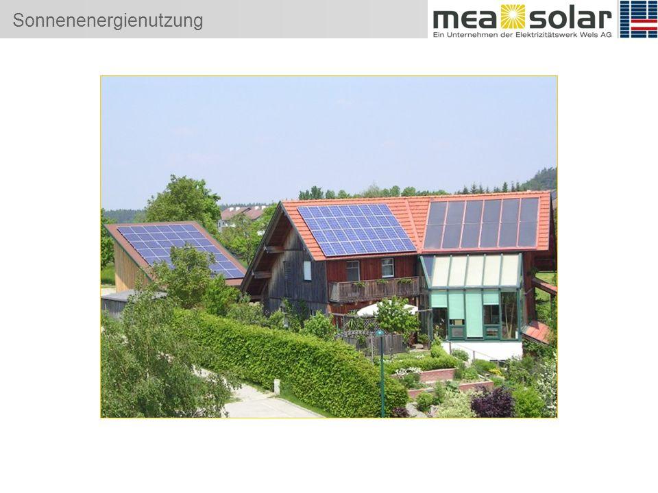 Sonnenenergienutzung