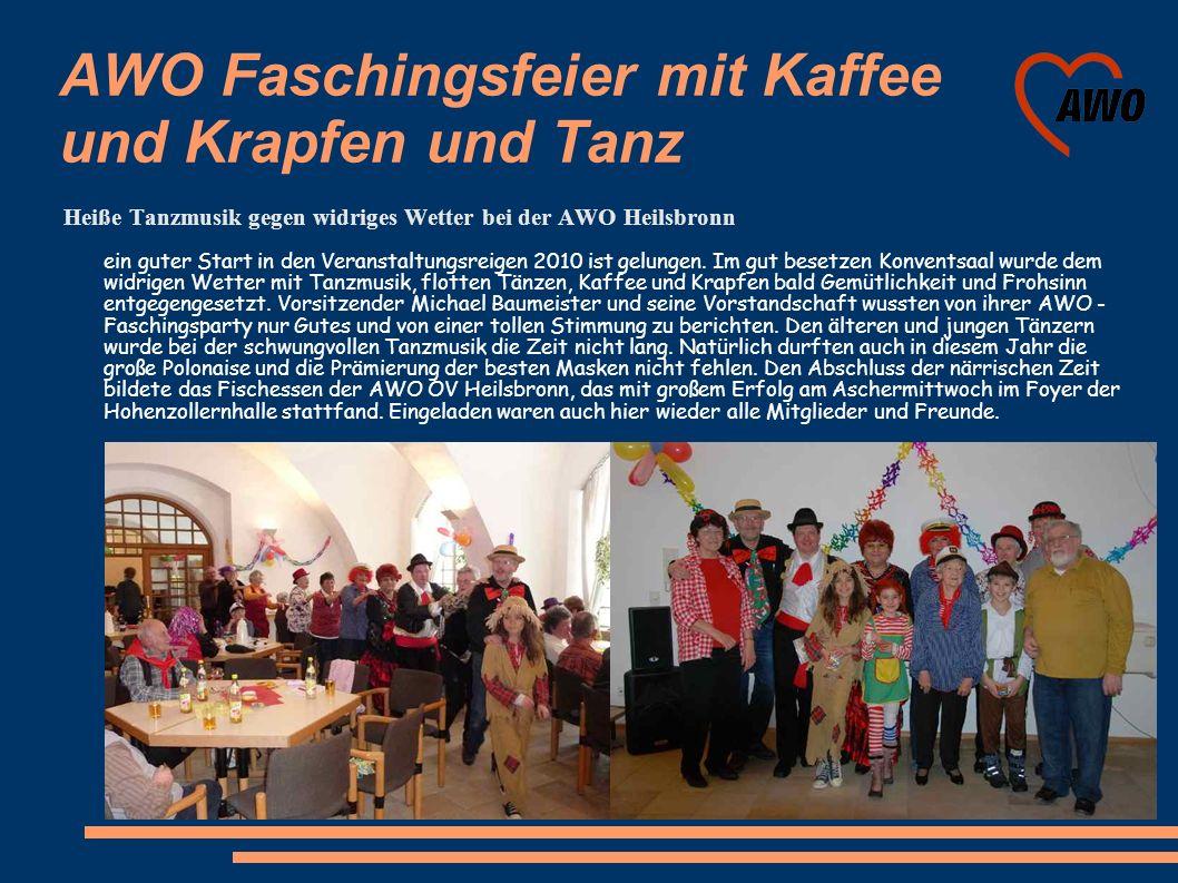 AWO Faschingsfeier mit Kaffee und Krapfen und Tanz Heiße Tanzmusik gegen widriges Wetter bei der AWO Heilsbronn ein guter Start in den Veranstaltungsr