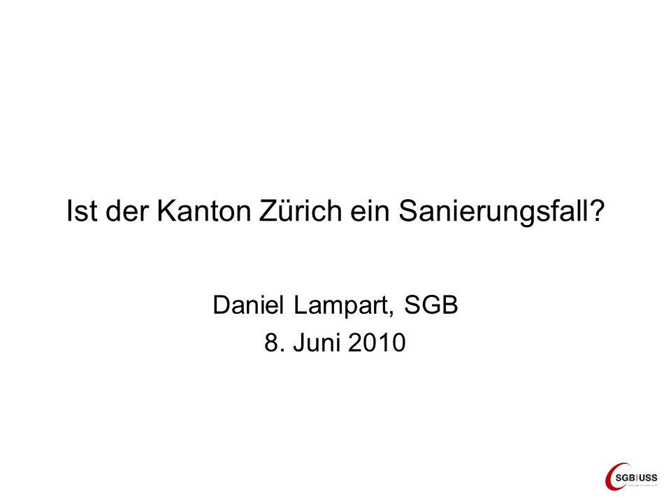 Ist der Kanton Zürich ein Sanierungsfall? Daniel Lampart, SGB 8. Juni 2010