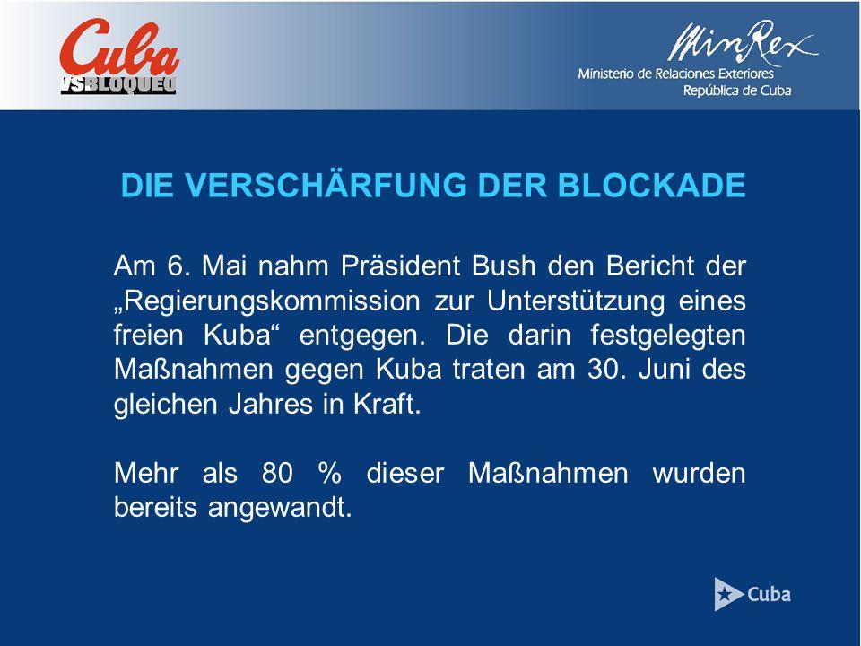 DIE VERSCHÄRFUNG DER BLOCKADE Am 6.