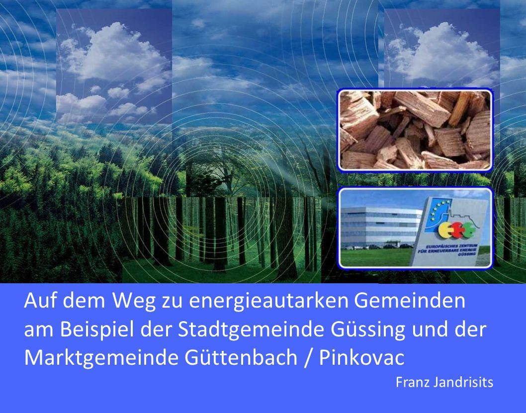Auf dem Weg zu energieautarken Gemeinden am Beispiel der Stadtgemeinde Güssing und der Marktgemeinde Güttenbach / Pinkovac Franz Jandrisits
