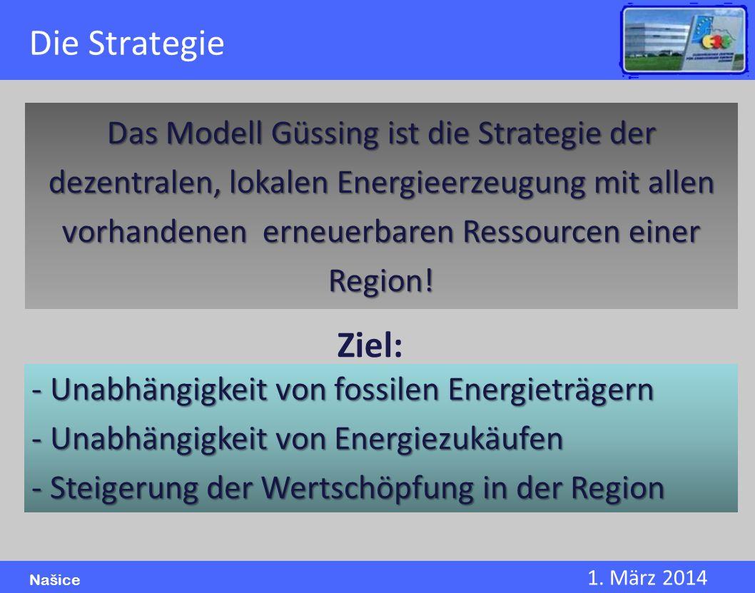 1. März 2014 Našice Das Modell Güssing ist die Strategie der dezentralen, lokalen Energieerzeugung mit allen vorhandenen erneuerbaren Ressourcen einer