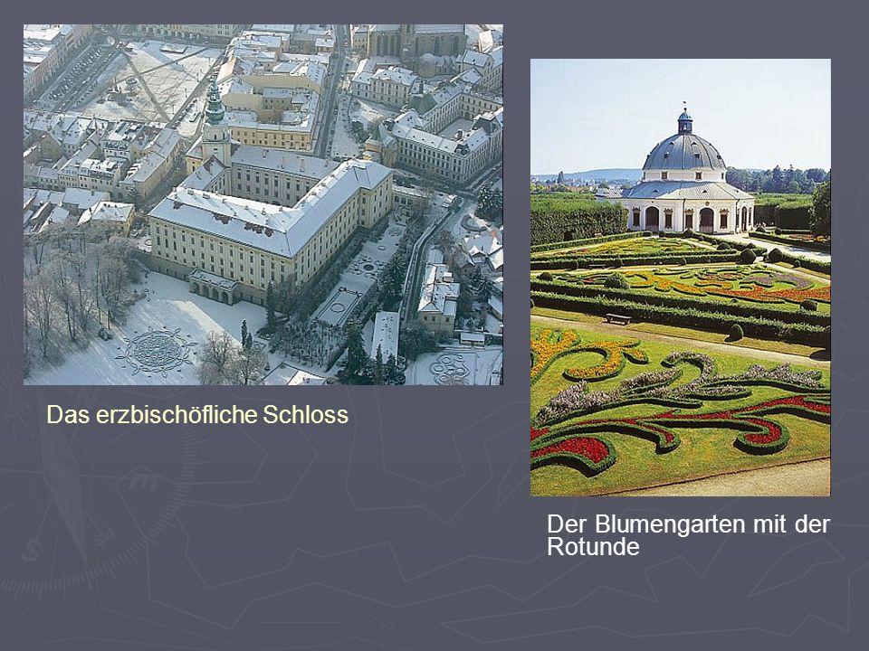 Das erzbischöfliche Schloss Der Blumengarten mit der Rotunde