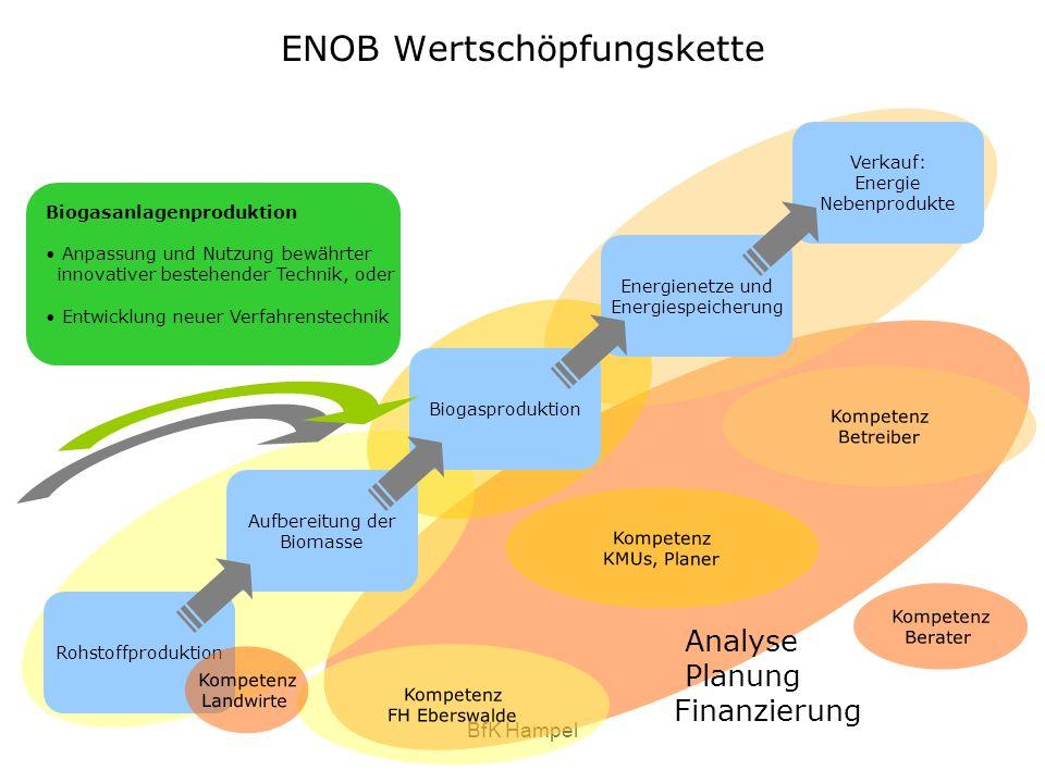 BfK Hampel Biogasanlagenproduktion Anpassung und Nutzung bewährter innovativer bestehender Technik, oder Entwicklung neuer Verfahrenstechnik ENOB Wert