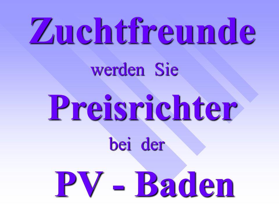Melden Sie sich an LV – Baden und werden Sie Preisrichter In den Gruppen A – D od.