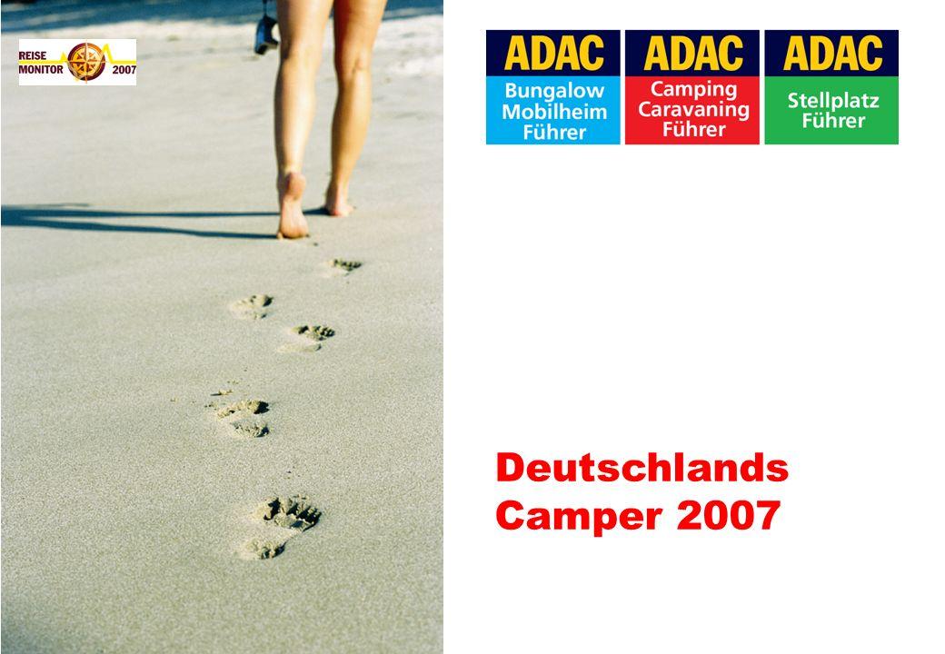 URLAUBSDAUER * geplant Anteil der Urlaubsreisen drei Wochen und mehr Die Camper bevorzugen längere Urlaube