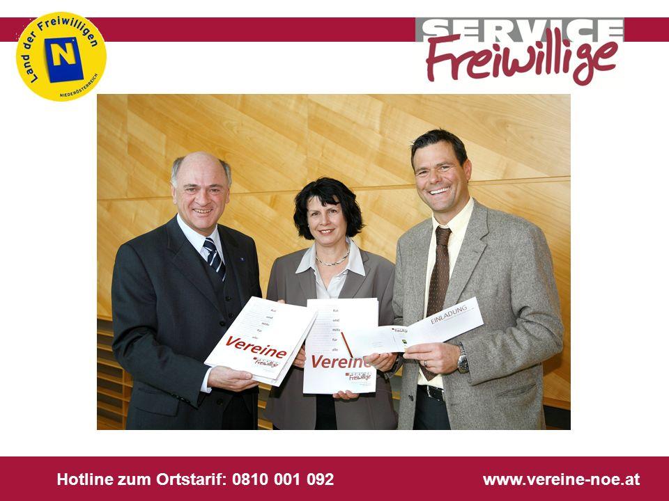 Hotline zum Ortstarif: 0810 001 092 www.vereine-noe.at