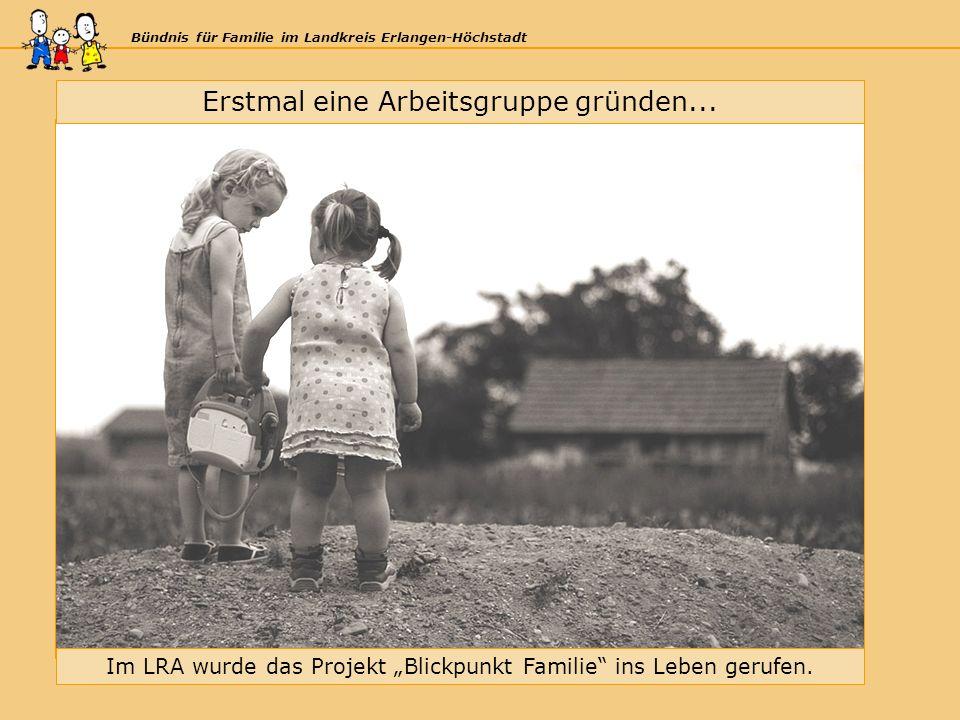 Bündnis für Familie im Landkreis Erlangen-Höchstadt Erstmal eine Arbeitsgruppe gründen...