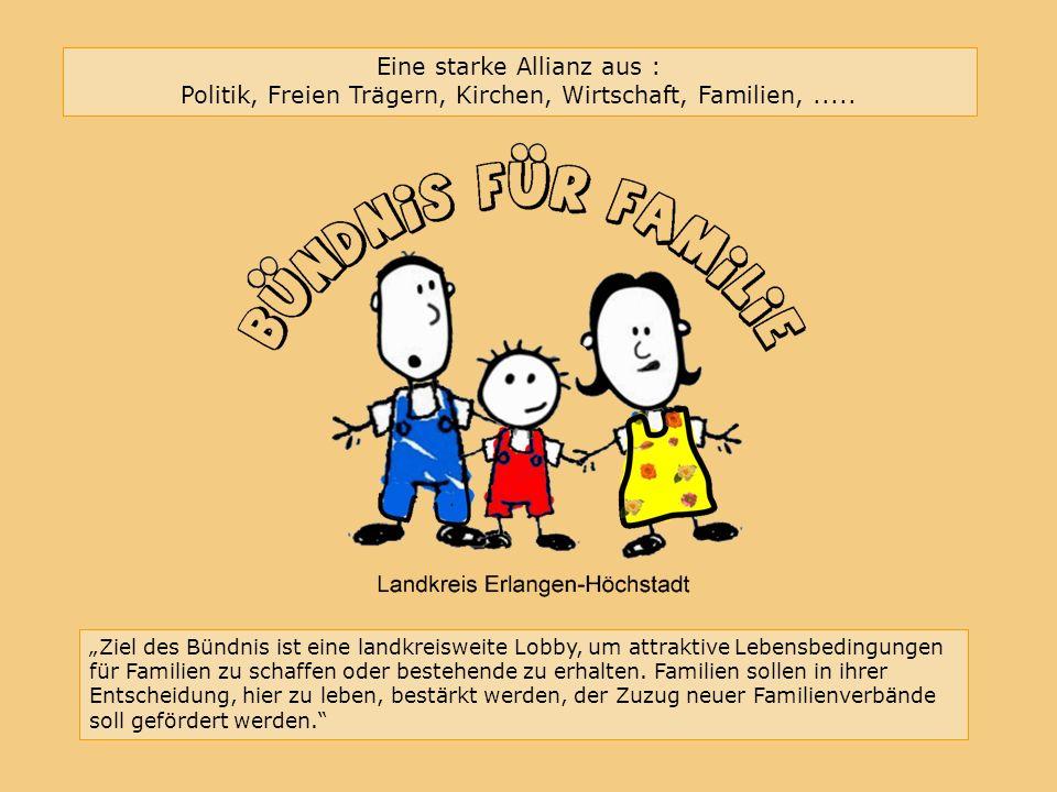 Bündnis für Familie im Landkreis Erlangen-Höchstadt Eine starke Allianz aus : Politik, Freien Trägern, Kirchen, Wirtschaft, Familien,.....