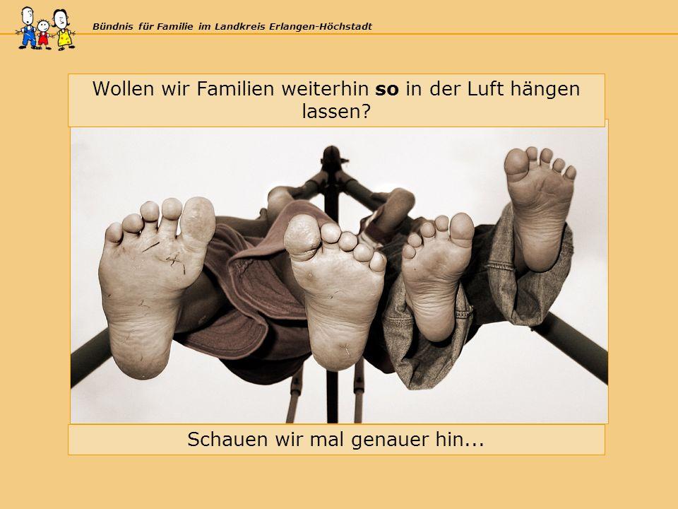 Bündnis für Familie im Landkreis Erlangen-Höchstadt Wollen wir Familien weiterhin so in der Luft hängen lassen.