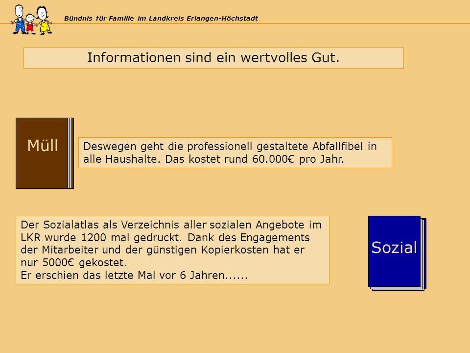 Bündnis für Familie im Landkreis Erlangen-Höchstadt KJHG Müll KJHG Sozial Informationen sind ein wertvolles Gut.