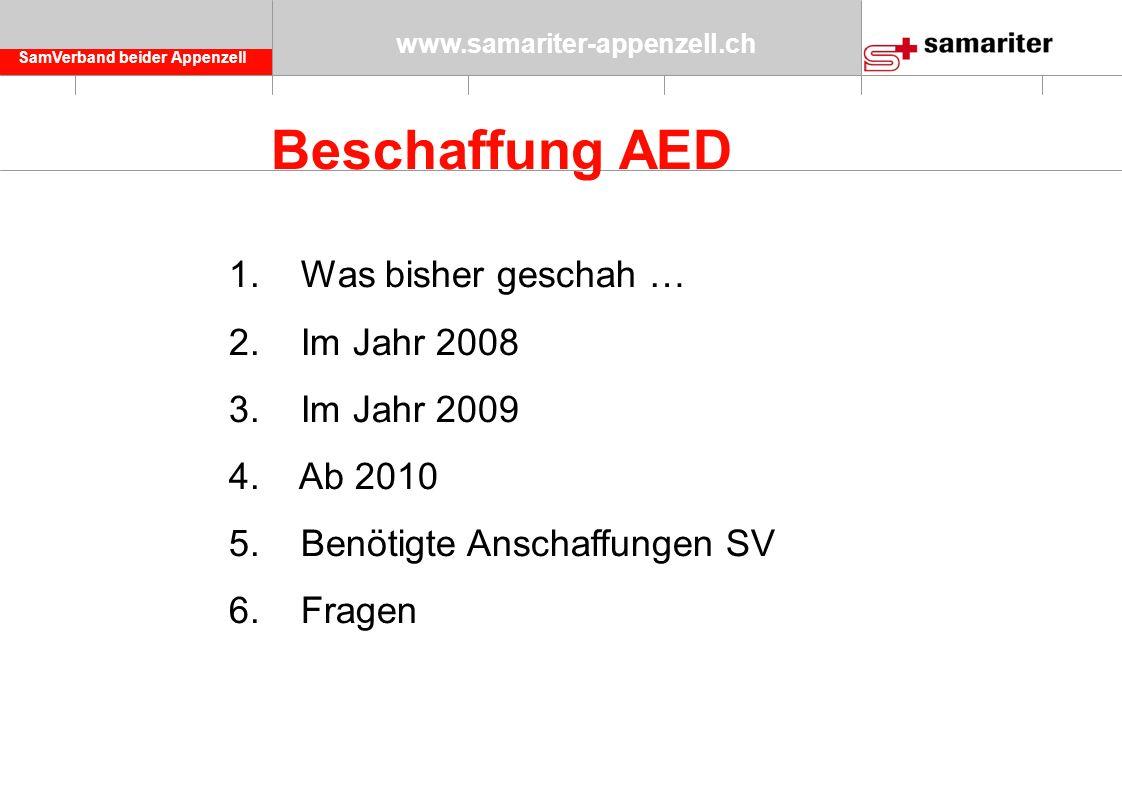 SamVerband beider Appenzell www.samariter-appenzell.ch Beschaffung AED 1.