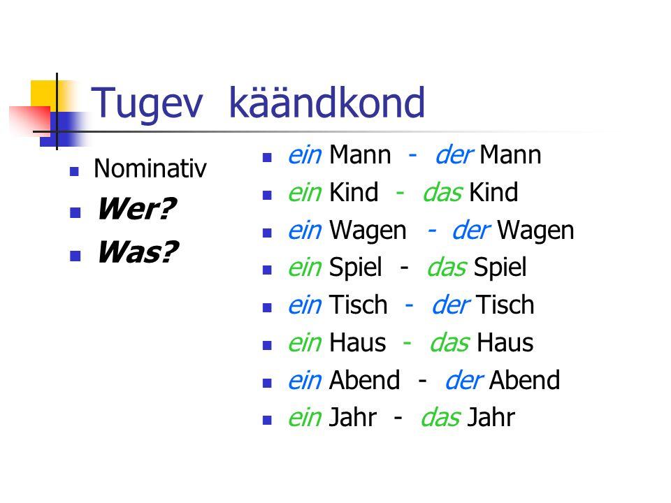 Tugev käändkond Nominativ Wer.Was.