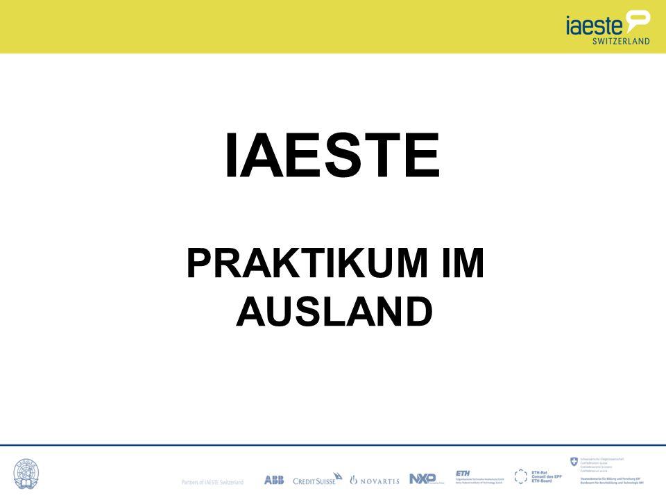 IAESTE PRAKTIKUM IM AUSLAND