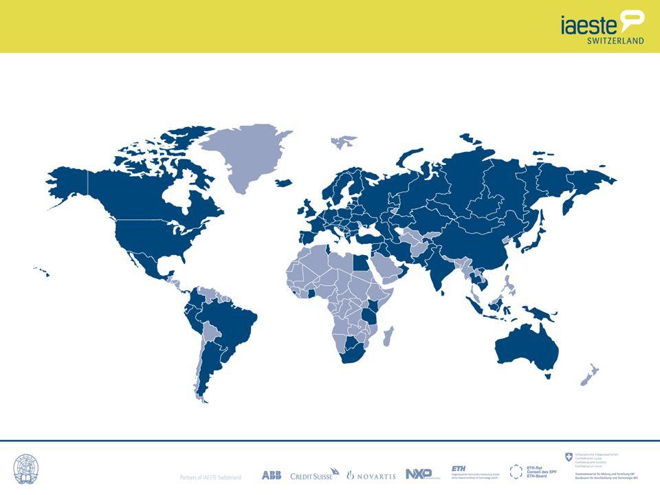 Erhöhe deine Chancen Flexibilität (Zeitraum, Land..) Bevorzuge NICHT angelsächsische Länder, da die meisten Studierenden dorthin wollen und es nicht so viele Stellen gibt IAESTE bietet über 80 Länder => Chance, ein exotisches Land kennen zu lernen.