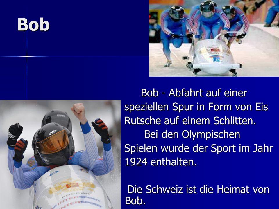Bob Bob - Abfahrt auf einer Bob - Abfahrt auf einer speziellen Spur in Form von Eis speziellen Spur in Form von Eis Rutsche auf einem Schlitten. Rutsc