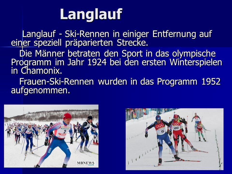Langlauf Langlauf - Ski-Rennen in einiger Entfernung auf einer speziell präparierten Strecke. Langlauf - Ski-Rennen in einiger Entfernung auf einer sp