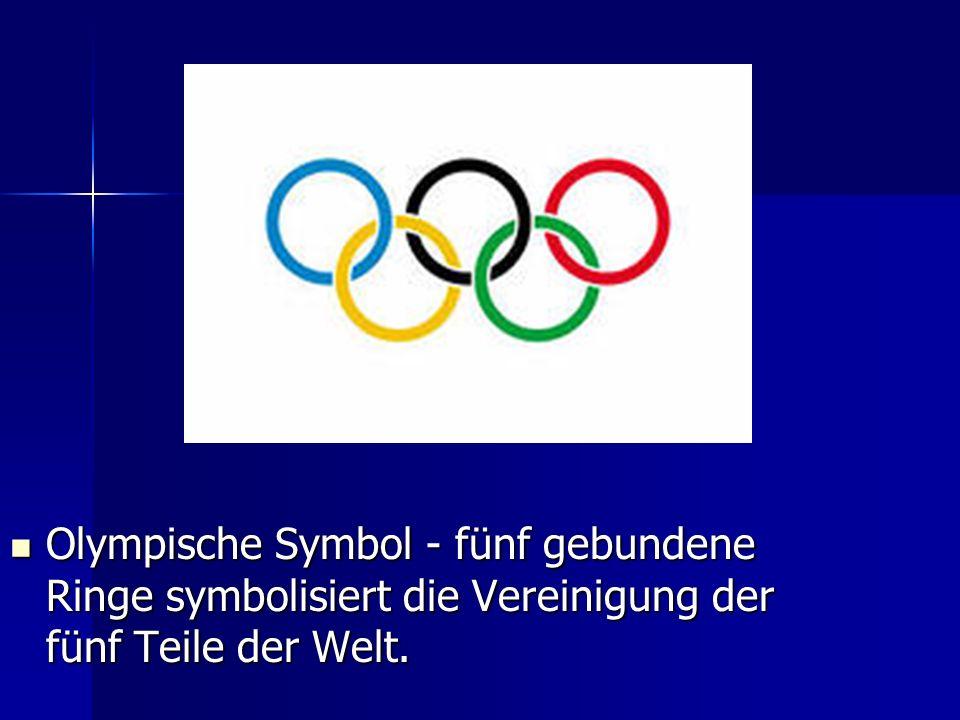 Olympische Symbol - fünf gebundene Ringe symbolisiert die Vereinigung der fünf Teile der Welt. Olympische Symbol - fünf gebundene Ringe symbolisiert d