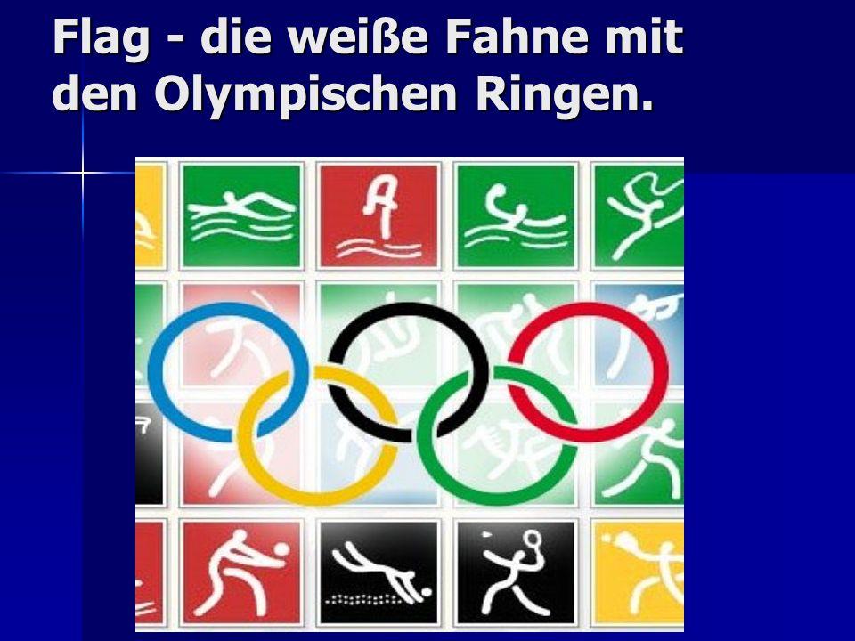 Flag - die weiße Fahne mit den Olympischen Ringen. Flag - die weiße Fahne mit den Olympischen Ringen.