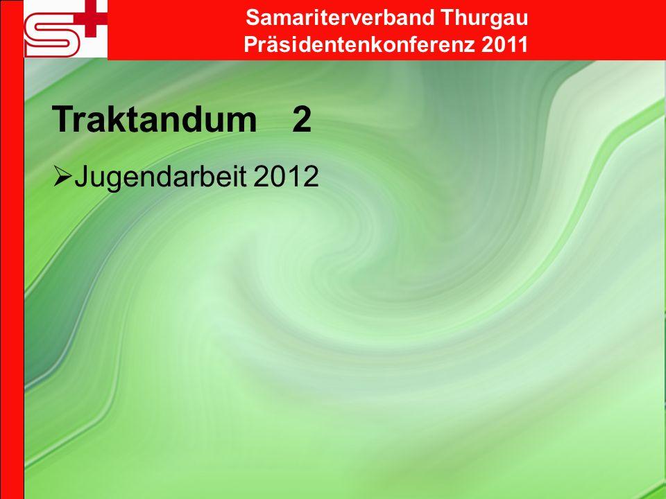 Samariterverband Thurgau Präsidentenkonferenz 2011 Traktandum 6 Verteilschlüssel 2012