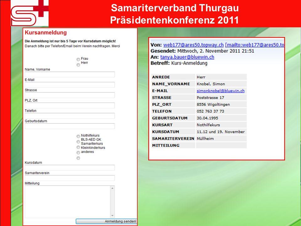 Samariterverband Thurgau Präsidentenkonferenz 2011