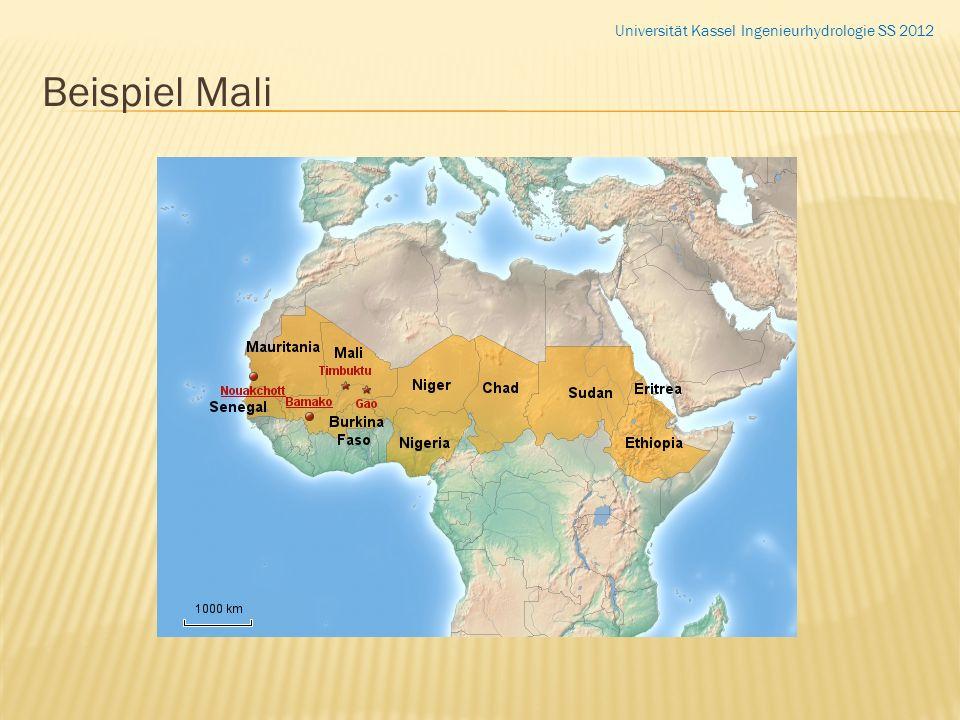 Beispiel Mali Universität Kassel Ingenieurhydrologie SS 2012