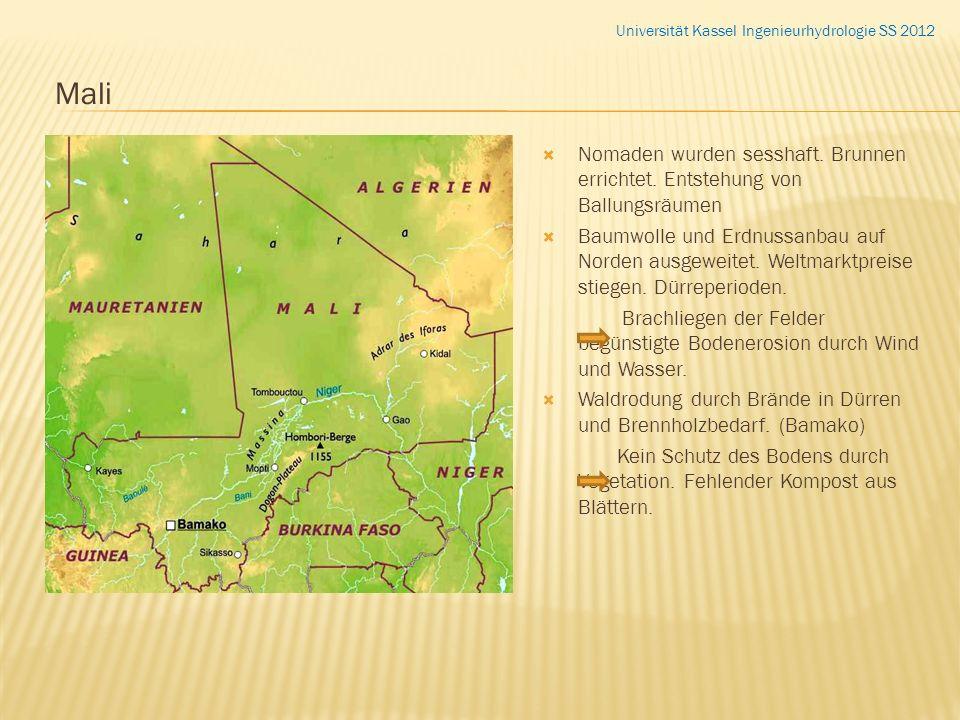 Nomaden wurden sesshaft. Brunnen errichtet. Entstehung von Ballungsräumen Baumwolle und Erdnussanbau auf Norden ausgeweitet. Weltmarktpreise stiegen.