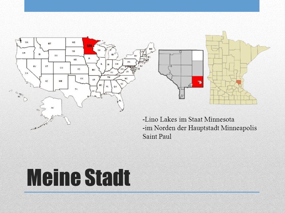 Meine Stadt -Lino Lakes im Staat Minnesota -im Norden der Hauptstadt Minneapolis Saint Paul