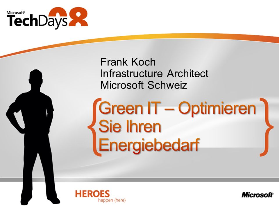 Frank Koch Infrastructure Architect Microsoft Schweiz