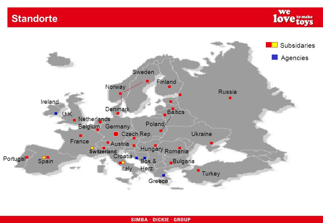 Turnover SIMBA DICKIE GROUP Mio 284 2004 2005 2006 2007 2008 2009 2010 2011 2012 289 340 370 525 500 570 620 615