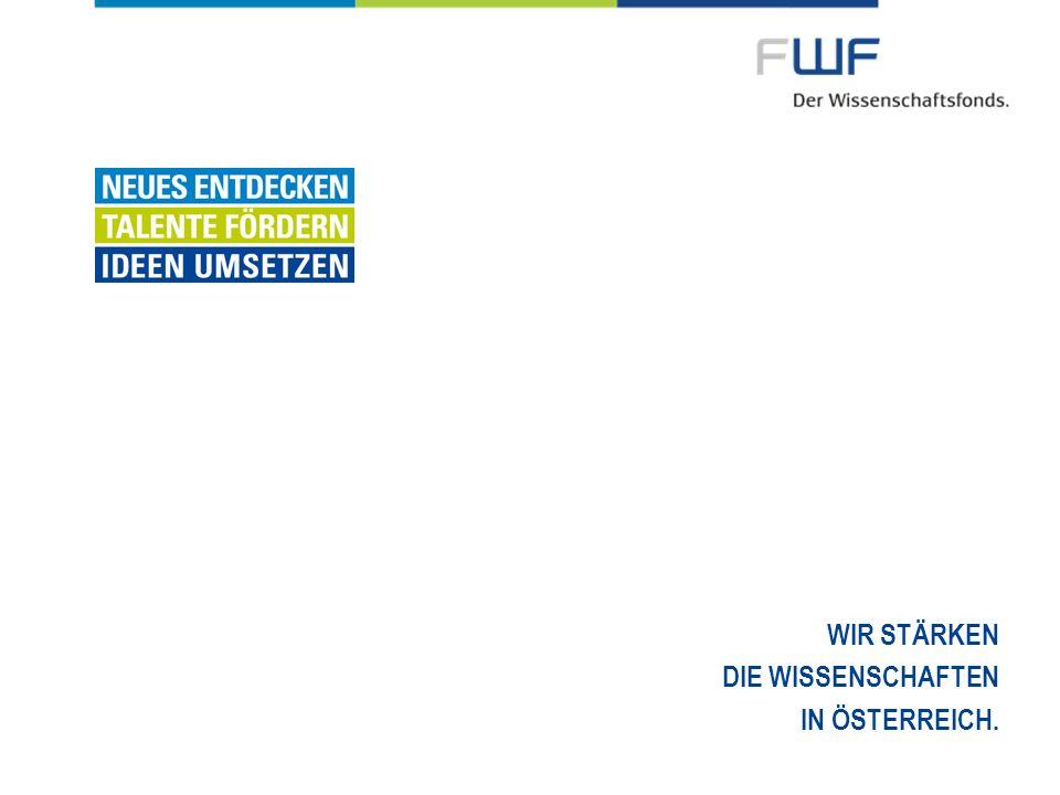FWF-Förderkategorien nach Karrierestufen 12