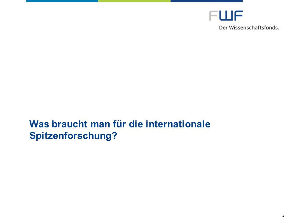 Was braucht man für die internationale Spitzenforschung? 4