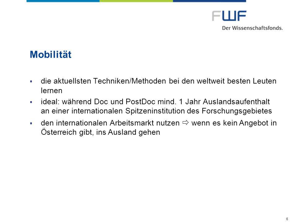 Talente fördern - Nachwuchsprogramme Schrödinger Stipendium – Eckdaten II Höheje nach Aufenthaltsort EUR 31.400 – 42.000/Jahr (steuerfrei); Reisekosten (je nach Destinationsort bis max.