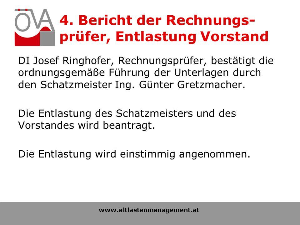 DI Josef Ringhofer, Rechnungsprüfer, bestätigt die ordnungsgemäße Führung der Unterlagen durch den Schatzmeister Ing.
