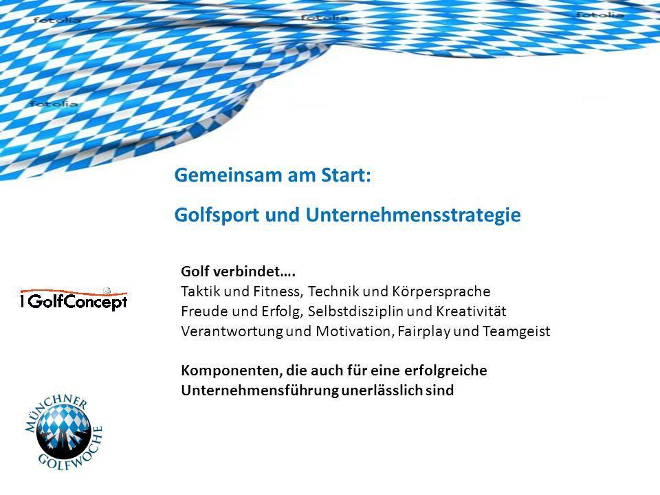 Gemeinsam am Start: Golfsport und Unternehmensstrategie Golf verbindet….