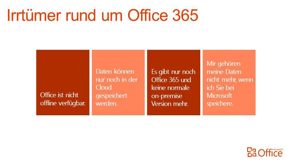 Office ist nicht offline verfügbar. Daten können nur noch in der Cloud gespeichert werden.