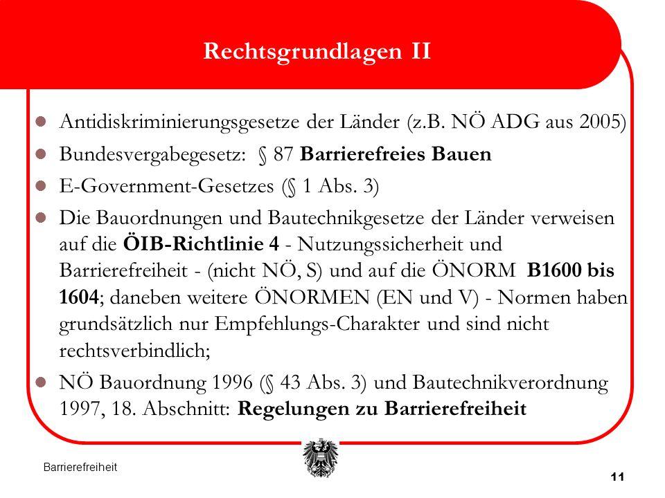 11 Rechtsgrundlagen II Antidiskriminierungsgesetze der Länder (z.B.