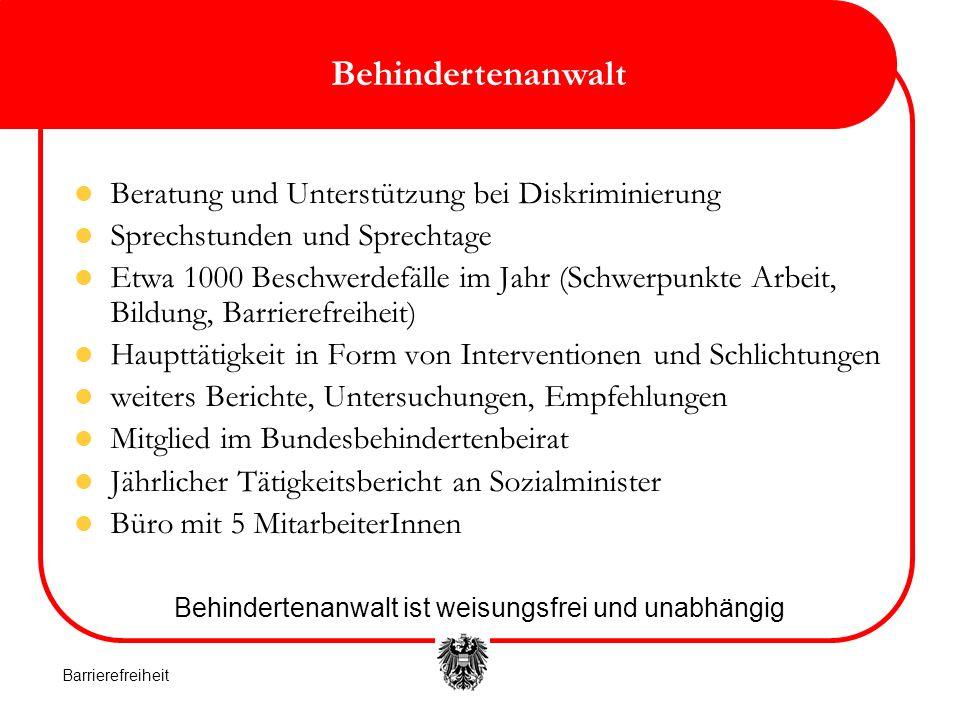 4 Wer ist behindert.Das österreichische Recht kennt keinen einheitlichen Behindertenbegriff.