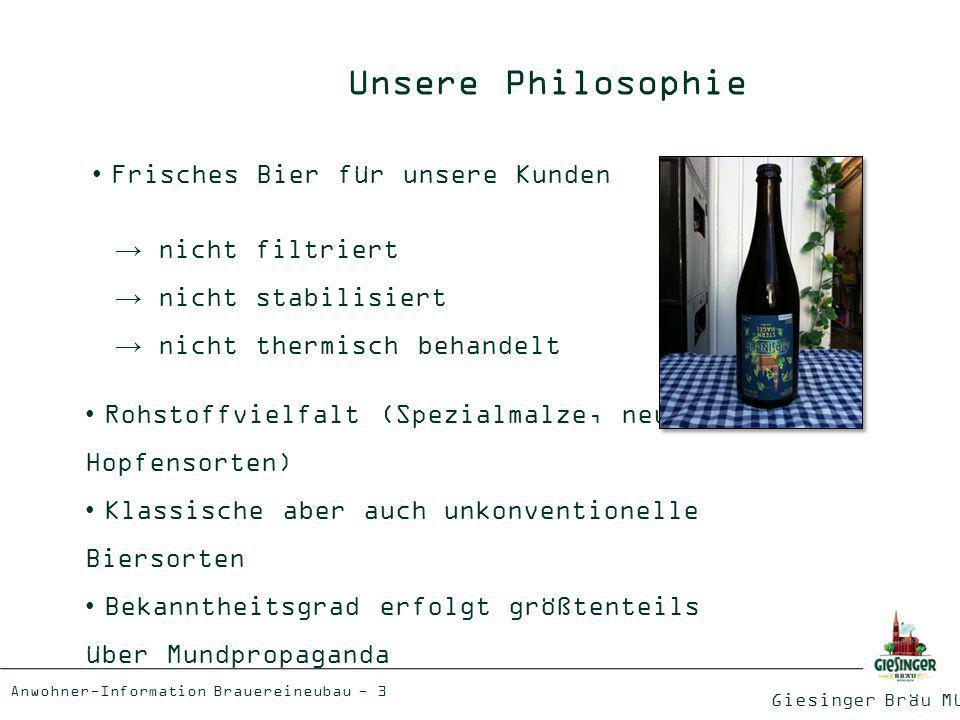 Giesinger Bräu München Anwohner-Information Brauereineubau - 4 Die Giesinger Bräu Biervielfalt