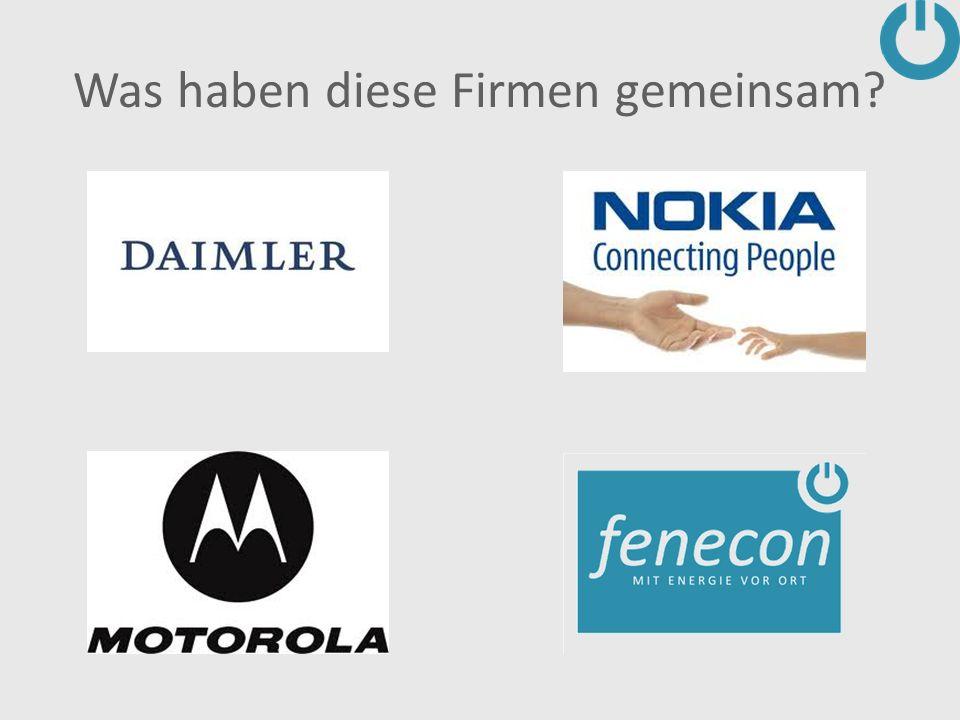 Was haben diese Firmen gemeinsam?