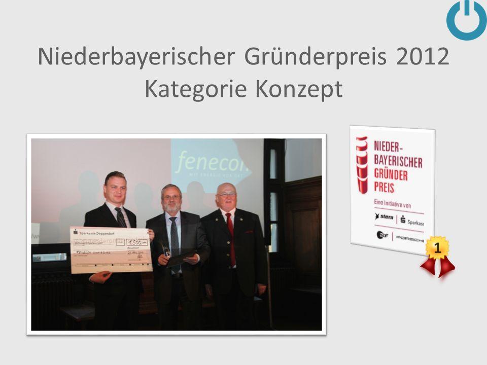 Niederbayerischer Gründerpreis 2012 Kategorie Konzept