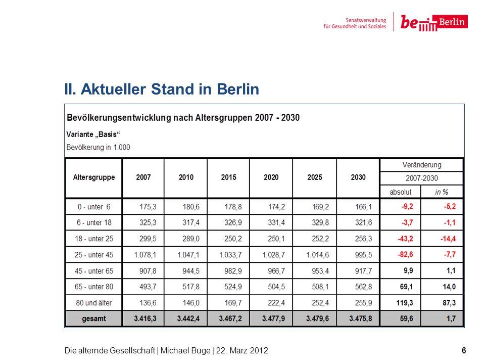 II. Aktueller Stand in Berlin 6Die alternde Gesellschaft | Michael Büge | 22. März 2012