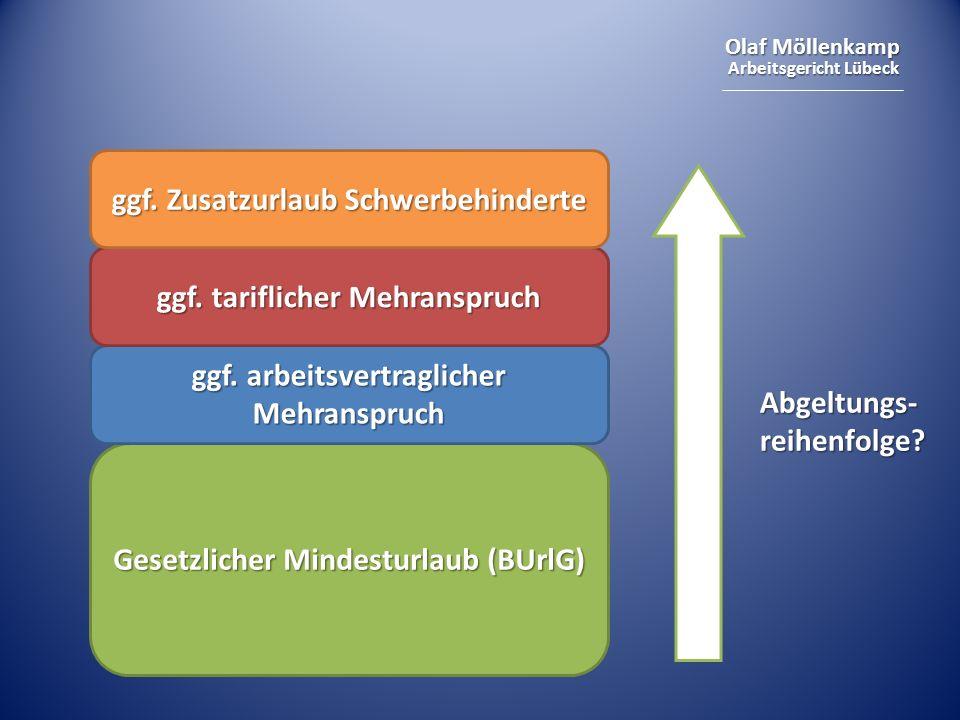 Olaf Möllenkamp Arbeitsgericht Lübeck Gesetzlicher Mindesturlaub (BUrlG) ggf.