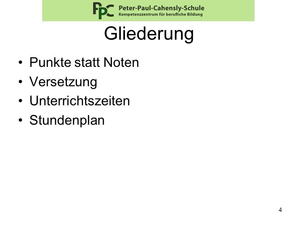15 Aufbaukurs (A) Stundentafel: – Deutsch 4 U.-Std.
