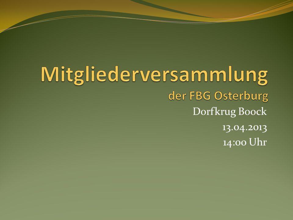 Dorfkrug Boock 13.04.2013 14:00 Uhr