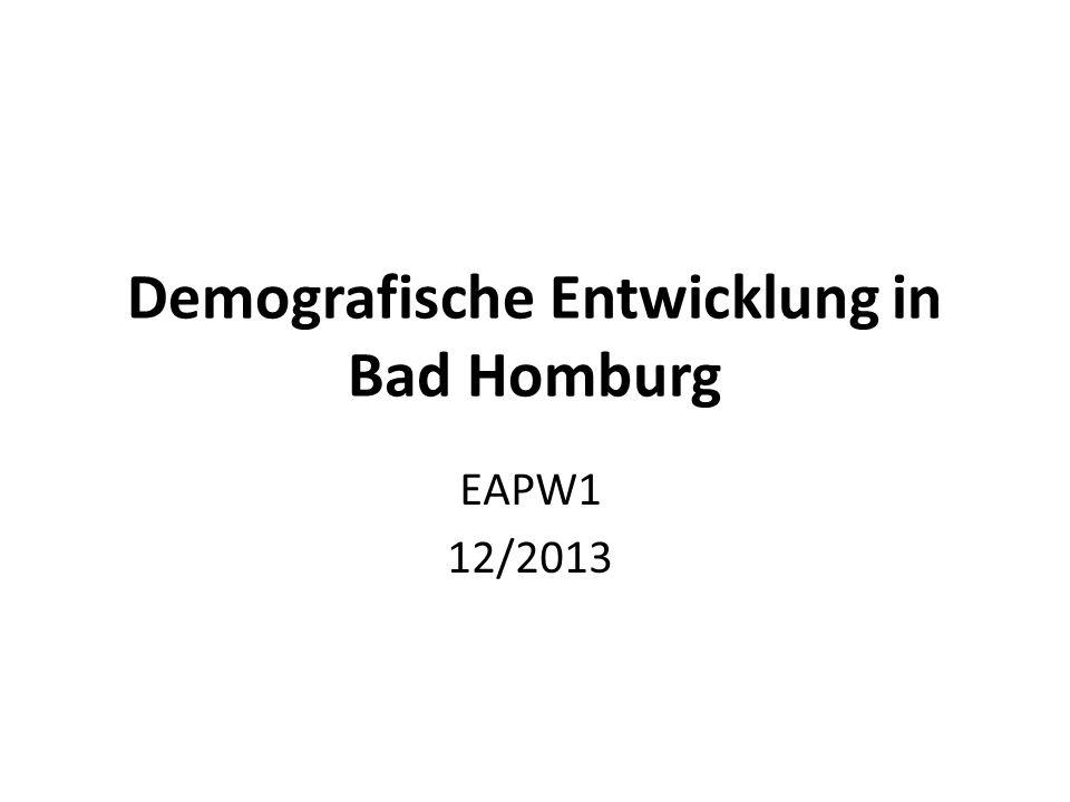 Demografische Entwicklung in Bad Homburg EAPW1 12/2013